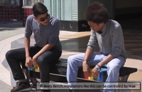 Beats Bench, an installation that can be controlled by Hive Mechanic